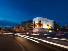 Hermès présente son parfum Terre d'Hermès pour les fêtes de fin d'année, Porte Maillot, staged by ATHEM