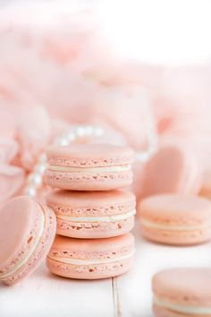 French Macarons (i am baker) Pink Macaroons, French Macaroons, Macron Recipe, Macaron Flavors, Rose Macaron Recipe, Macaron Filling, How To Make Macarons, Macarons Easy, Cookie Recipes