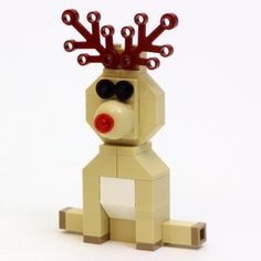 LEGO Set MOC-1098 Reindeer - building instructions and parts list. Theme: Sculptures; Year: 2013; Parts: 47; Colors: 6; Tags: christmas moc sculptures