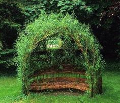 Woven living willow seat in Upton Grey Garden, Hampshire, England. (How To Get Him To Propose Awesome)