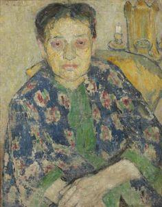 """Mela Muter, """"Portret matki artystki, Zuzanny z Feigenblattów Klingsland"""", ok. 1904/1905olej na płótnie62 x 50,2 cm"""
