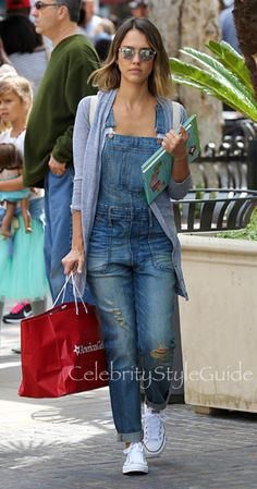 SHOP Madewell Skinny Adrian Wash Overalls Seen On Jessica Alba
