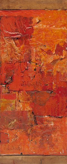 Robert Rauschenberg - Untitled (Red Painting), ca. oil, fabric, and newspaper on canvas, with wood Robert Rauschenberg, Neo Dada, Pop Art, Museums In Nyc, Expressionist Artists, New York, Texture Art, Art World, Collage Art