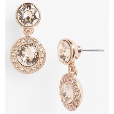 Givenchy-Swarovski Pavé Crystal Drop Earrings