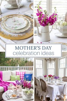 Looking for ways to upgrade your Mother's Day celebration? These Mother's Day ideas will brighten your day and add pleasure to your gathering. French Table Setting, Country Table Settings, Country Interior Design, Vintage Interior Design, French Farmhouse Decor, French Country Decorating, Parisian Decor, Table Setting Inspiration, Spring Home Decor
