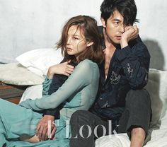 Jung Woo Sung and Lee Som - Look Magazine Couple Posing, Couple Portraits, Couple Shoot, Korean Actresses, Actors & Actresses, Jung Woo Sung, Korean Wedding, Stylish Couple, Vogue Korea