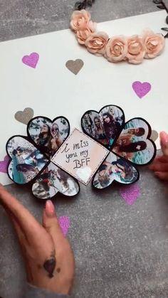 Diy Crafts Hacks, Diy Crafts For Gifts, Creative Crafts, Diy Best Friend Gifts, Handmade Birthday Cards, Diy Birthday, Paper Crafts Origami, Cute Gifts For Boyfriend, Boyfriend Crafts