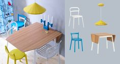 Stylish and modern. Have fun with IKEA PS for dining.