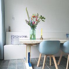 #kwantum repin: Stoel New York > https://www.kwantum.nl/meubelen/stoelen/meubelen-stoelen-eetkamerstoelen-kuipstoel-new-york-groen-1323024 @kitty_mulders - Goeiemorgen. Wat is het nu lekker buiten. Alle ramen en deuren open zodat de warmte eruit kan. Bijna weekend! #newhome #friday #vrijdag #tgif #bloomon #kwantum