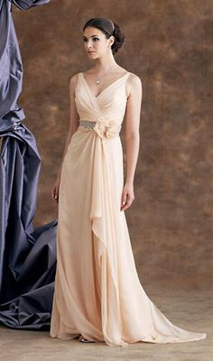 08eff301415 Montage by Mon Cheri 110906 Sleeveless silk chiffon dress with mock wrap  ruched bodice