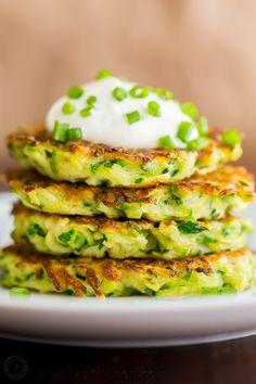 Zucchini Fritters (VIDEO) | Natasha's Kitchen | Bloglovin'