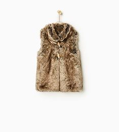 Brown fur vest for Devrie (with a plain white dress)