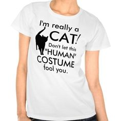 Shop Funny Cat Costume, Halloween Women's T-Shirt created by cutencomfy. Crazy Cat Lady, Crazy Cats, Cat Lover Gifts, Cat Lovers, Cat Costumes, Costume Halloween, Exotic Shorthair, Warrior Cats, Cat Health