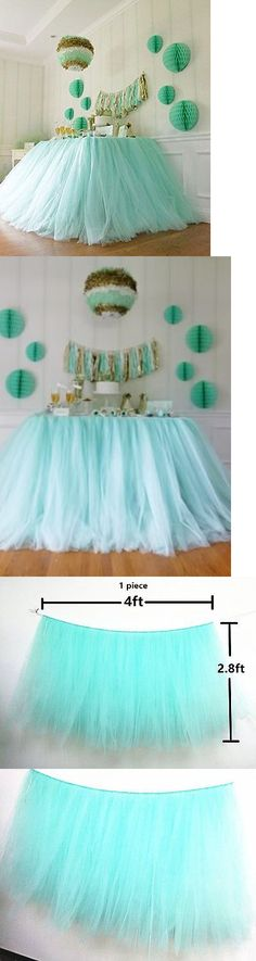 Tulle 20942: Originals Group Tutu Table Skirt , Mint Tulle Tutu Table Skirt Decor, Birthday -> BUY IT NOW ONLY: $31.91 on eBay!