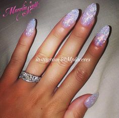 Sparkle glitter stilleto nails! Perfect for wedding or every day!