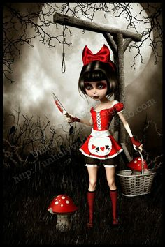 Alice in wonderland dark art artists 55 Ideas Dark Gothic Art, Dark Fantasy Art, Charles Perrault, Kobold, Dark Disney, Gothic Dolls, Goth Art, Creepy Art, Pop Surrealism