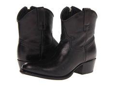 FRYE FRYE - DEBORAH SHORT (BLACK DEEP WAX) COWBOY BOOTS. #frye #shoes #
