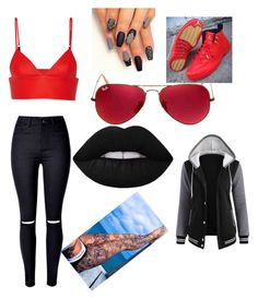 Style outside of WWE by mrs4mbrose on Polyvore featuring polyvore fashion style T By Alexander Wang Ray-Ban Lime Crime clothing
