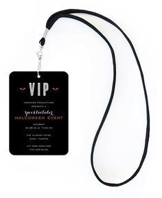 Spooktacular Halloween VIP Pass Invitation with Lanyard #monster #eyes #vip #halloween #fall #autumn #party #event #invite #invitation #invitationbox #design #interesting #pinterest #scary #spooky