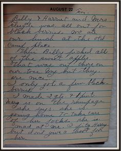 Vintage Johnstown: August 22, 1947: Diary of a Johnstown Housewife