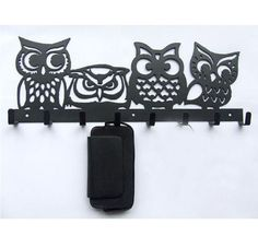 YOURNELO Cute Owl Iron Art Wall Mounted Rack Hooks Housewarming Gift Black >>> You can find more details by visiting the image link. (This is an affiliate link) Coat Hanger, Wall Hanger, Wall Hooks, Metal Walls, Metal Wall Art, Clothes Cabinet, Plasma Cutter Art, Owl Wall Art, Laser Art
