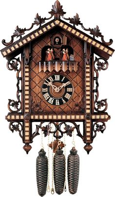 River City Clocks Eight Day Musical Cuckoo Clock with 1880