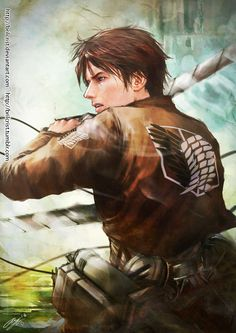 I can't stand boys being described as beautiful because that implies obsession, but man, Eren is beautiful.