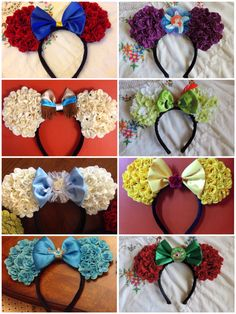 So absolutely ear-dorable ! Disney Minnie Mouse Ears, Diy Disney Ears, Minnie Bow, Mickey Mouse And Friends, Disney Diy, Disney Crafts, Disney Bachelorette, Anna Disney, Disney Headbands