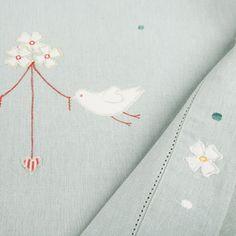 Linen tablecloth :-) Duck egg blue kitchen accesories
