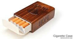 for Cigarettes Short Package/木製タバコケースショート用/鏡面塗装トップ