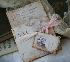 Wedding Pocket Invitation  1920s vintage by youruniquescrapbook, $5.46 per invite.