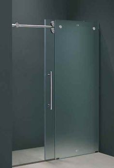 frameless shower door in frosted glass - Bathroom Glass Door