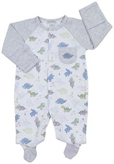 Kissy Kissy Baby Boys' Dynamic Dinos Stripe Footie