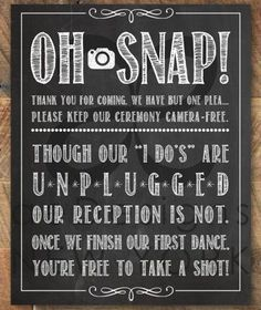 The Unplugged Wedding ~ No Cell Phone Zone! - The Destination Wedding