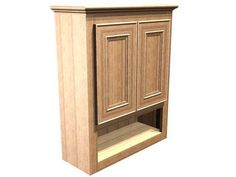 Briarwood Highland Wall Cabinet, 24w x 30h x 9d at Menards