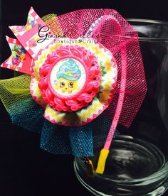 Shopkins headband, hairbow birthday, hair accessory by Ginana Belle's Bowtique & Crafts