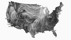 A Mesmerizing Visualization Of Wind In The U.S.