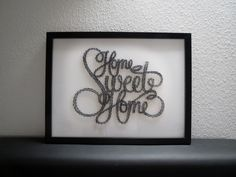 """Fadenbild """"Home Sweet Home"""" A3 von fadenbild auf DaWanda.com"""