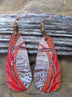 Vintage Tin Earrings by brendalou2 on Etsy, $12.00