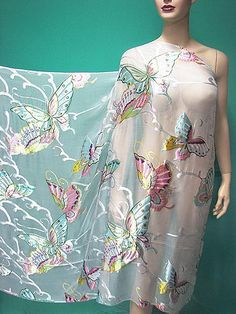 silk burnout fabric