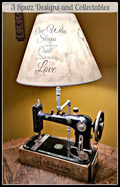 3 Spurz D&C Repurposed /Refurbished Creations!!: Repurpose Sewing Machine lighting