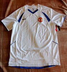 Manchester United Men's Soccer Jersey Whit/Blue Sz L NWT