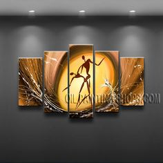 Colorful Contemporary Wall Art High Quality Oil Painting For Living Room Figure. This 5 panels canvas wall art is hand painted by Bo Yi Art Studio, instock - $172. To see more, visit OilPaintingShops.com