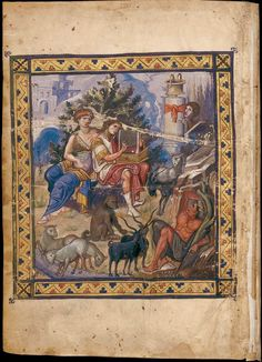 MANUSCRIPT ILLUMINATION: David the Psalmist. Page from the Paris Psalter, paint and gold on vellum. C. 960. National Library, Paris. This example still retains many characteristics of classical painting. It is very naturalistic.