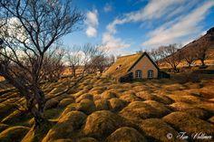 Wonderful turf church near Hof, South Iceland  photo by Tim Vollmer