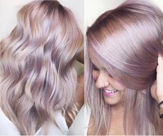 iridescent rose pink metallic haircolor cassiskovic kenra - Hair & Make-Up + Nails - Beauty Tips and Tricks Lavender Hair, Lilac Hair, Purple Blonde Hair, Dusty Rose Hair, Pink Hair Toner, Blonde Hair With Color, Purple Hair Highlights, Light Purple Hair, Beige Hair