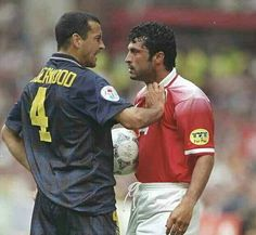Scotland 1 Switzerland 0 in 1996 at Villa Park. Colin Calderwood gets a bit shirty with Kubilay Turkyilmaz in Group A at Euro '96.