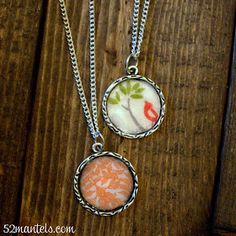 52 Mantels: Custom Fabric Charm Necklace