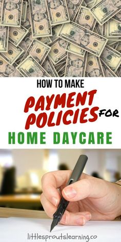 DAYCARE PAYMENT POLICIES: Payment policies are super important. Everyone you are serving in your business needs to have a good idea of what to expect from the business relationship. Preschool At Home, Preschool Activities, Home Childcare, In Home Daycare, Architecture Design, Daycare Organization, Starting A Daycare, Daycare Forms, Daycare Ideas
