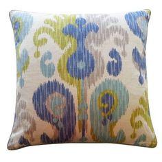 Jiti Camino Cotton Throw Pillow Color: Aqua